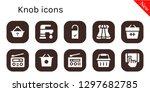 knob icon set. 10 filled knob... | Shutterstock .eps vector #1297682785