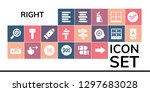 right icon set. 19 filled... | Shutterstock .eps vector #1297683028