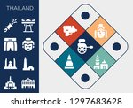thailand icon set. 13 filled... | Shutterstock .eps vector #1297683628