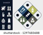 shaker icon set. 13 filled... | Shutterstock .eps vector #1297683688