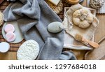 beauty mix with body care ...   Shutterstock . vector #1297684018