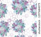 seamless pattern floral design. ... | Shutterstock . vector #1297684075
