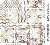 seamless pattern with tribal... | Shutterstock . vector #1297684102