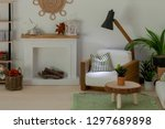 light dollhouse room with... | Shutterstock . vector #1297689898
