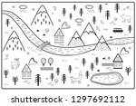 vector river  mountains and...   Shutterstock .eps vector #1297692112