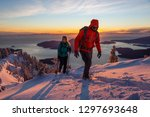 adventure seeking man and woman ... | Shutterstock . vector #1297693648