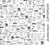 travel hand draw doodle... | Shutterstock .eps vector #1297694245
