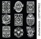 vintage poster   emblem   t... | Shutterstock .eps vector #1297697812