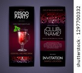 disco invitation to cocktail...   Shutterstock .eps vector #1297700332