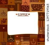 coffee frame. background with... | Shutterstock .eps vector #1297719565