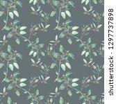 watercolor eucalyptus branches... | Shutterstock . vector #1297737898