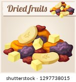 detailed icon. dried fruits.... | Shutterstock . vector #1297738015