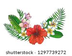 vector vintage background with... | Shutterstock .eps vector #1297739272