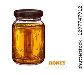 sketch vector honey packing... | Shutterstock .eps vector #1297747912