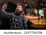 taking selfie concept. online... | Shutterstock . vector #1297756708