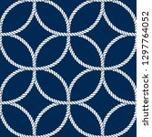 seamless nautical rope pattern. ... | Shutterstock .eps vector #1297764052