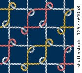 seamless nautical rope pattern. ... | Shutterstock .eps vector #1297764058