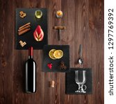 mulled wine recipe ingredients... | Shutterstock . vector #1297769392