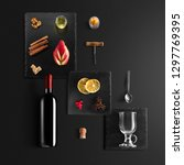 mulled wine recipe ingredients... | Shutterstock . vector #1297769395