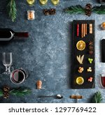 mulled wine recipe ingredients... | Shutterstock . vector #1297769422