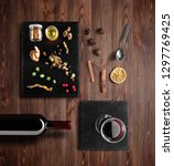 mulled wine recipe ingredients... | Shutterstock . vector #1297769425