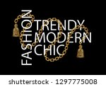 decorative text with golden... | Shutterstock .eps vector #1297775008