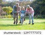 grandparents teaching... | Shutterstock . vector #1297777372