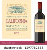 wine label. wine bottle.... | Shutterstock .eps vector #1297782535
