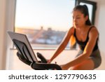 home fitness fit woman... | Shutterstock . vector #1297790635