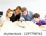 male teacher and teenage high... | Shutterstock . vector #1297798762