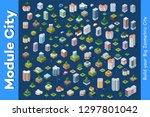 modern 3d city isometric three... | Shutterstock .eps vector #1297801042