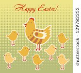vector easter greeting card... | Shutterstock .eps vector #129782252