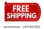 free shipping banner design on... | Shutterstock .eps vector #1297827832