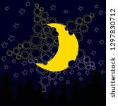 good night and sweet dreams... | Shutterstock .eps vector #1297830712