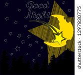 good night and sweet dreams... | Shutterstock .eps vector #1297830775