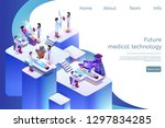 isometric banner future medical ... | Shutterstock .eps vector #1297834285