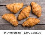 french delicious breakfast .... | Shutterstock . vector #1297835608