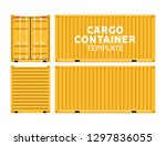 cargo container box isolated... | Shutterstock .eps vector #1297836055