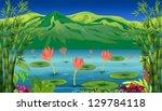 illustration of the water... | Shutterstock .eps vector #129784118