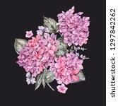 summer watercolor vintage... | Shutterstock . vector #1297842262
