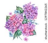 summer watercolor vintage... | Shutterstock . vector #1297842265