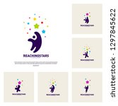 set of reaching stars logo... | Shutterstock .eps vector #1297845622