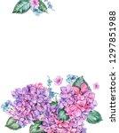summer watercolor vintage... | Shutterstock . vector #1297851988
