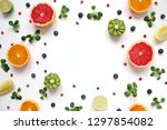 colorful food pattern made of...   Shutterstock . vector #1297854082