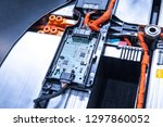 ev car battery pack. electric... | Shutterstock . vector #1297860052