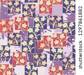 seamless pattern made up of...   Shutterstock .eps vector #1297861882