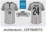 baseball jersey or raglan t... | Shutterstock .eps vector #1297868572