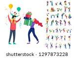 happy christmas day celebrating ...   Shutterstock .eps vector #1297873228