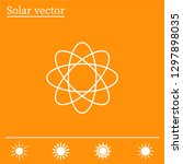 pictograph of atom | Shutterstock .eps vector #1297898035
