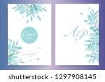 wedding invitation  floral... | Shutterstock .eps vector #1297908145